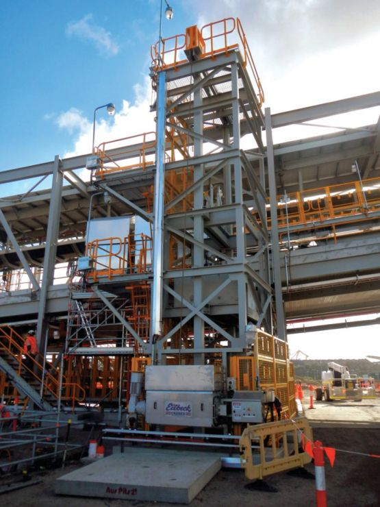 8t Take-up Winch in the Gravity Take-up Tower - NCIG, Coal Export Terminal Stage 2, NSW
